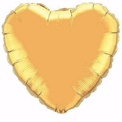 Gold Foil Giant 90cm Heart Balloon