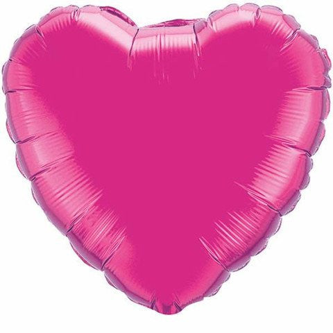 Magenta Foil Giant 90cm Heart Balloon - Bickiboo Designs