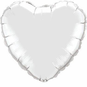 Silver Foil Giant 90cm Heart Balloon - Bickiboo Designs