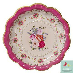 Truly Scrumptious Vintage Tea Party Plates - Bickiboo Designs