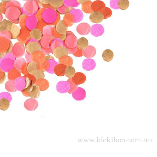 Hand-Cut Confetti - Hot Pink & Coral