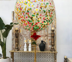 Giant 90cm Christmas Confetti Balloon