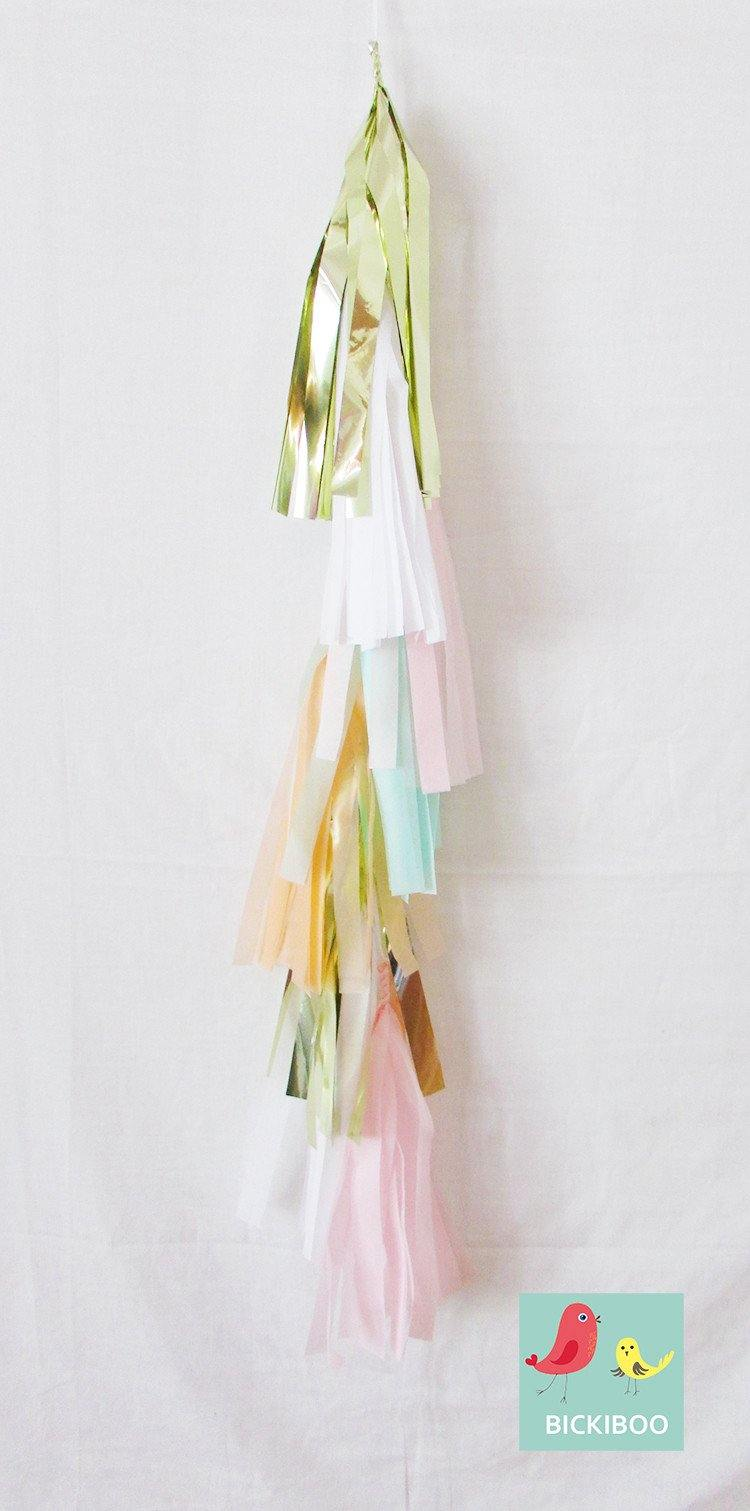 Petite Balloon Tassel Tail - Golden Pastels - Bickiboo Designs