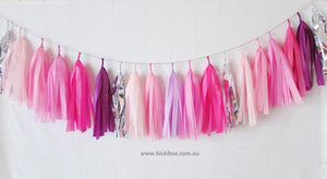 Tissue Paper Tassel Garland - Honeysuckle - Bickiboo Designs