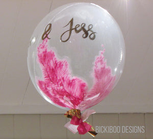Pink Hand Painted Giant Balloon in a Box - Free Shipping - Bickiboo Designs