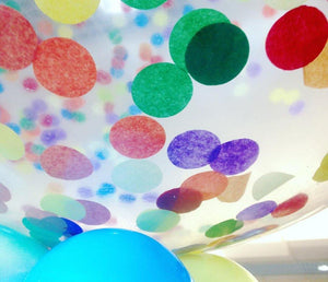 Jumbo Helium Filled Confetti Balloon - Bright Colours - Bickiboo Designs
