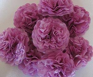 Lilac Purple Button Mums Tissue Paper Flowers - Bickiboo Party Supplies