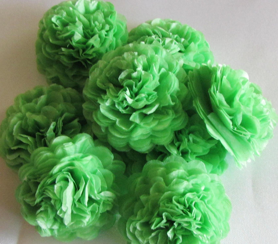 Lime Green Button Mums Tissue Paper Flowers - Bickiboo Designs