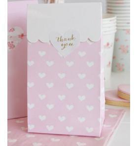 Sambellina Party Bags - Hearts - Bickiboo Party Supplies