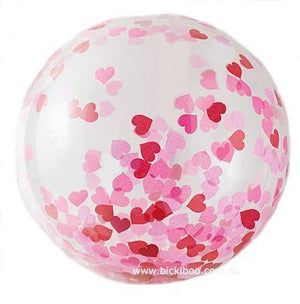 Jumbo Helium Filled Heart Confetti Balloon - Bickiboo Designs