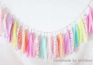 Tissue Paper Tassel Garland - Lovely Hearts - Bickiboo Designs