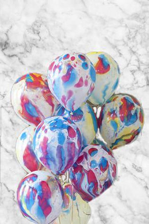 Messy Marble Balloons Bouquet