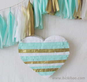 Custom Colour Fringed Heart Piñata