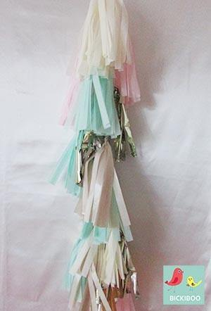 Balloon Tassel Garland - Mint Loves Pink - Bickiboo Party Supplies