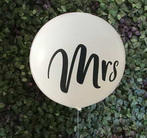 Giant Mr & Mrs Balloon - 90cm (2 pack) - Bickiboo Designs