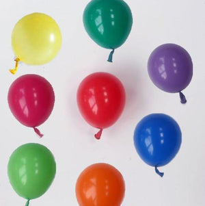 Multi Mix Balloons - 12cm (24 pack) - Bickiboo Designs