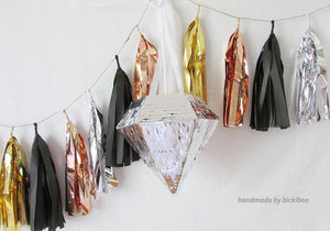 Tissue Paper Tassel Garland - Cocktail Hour - Bickiboo Designs