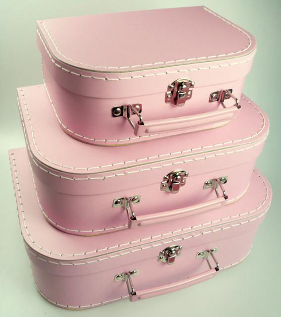 Mashmellow Pink Euro Suitcases - Bickiboo Designs