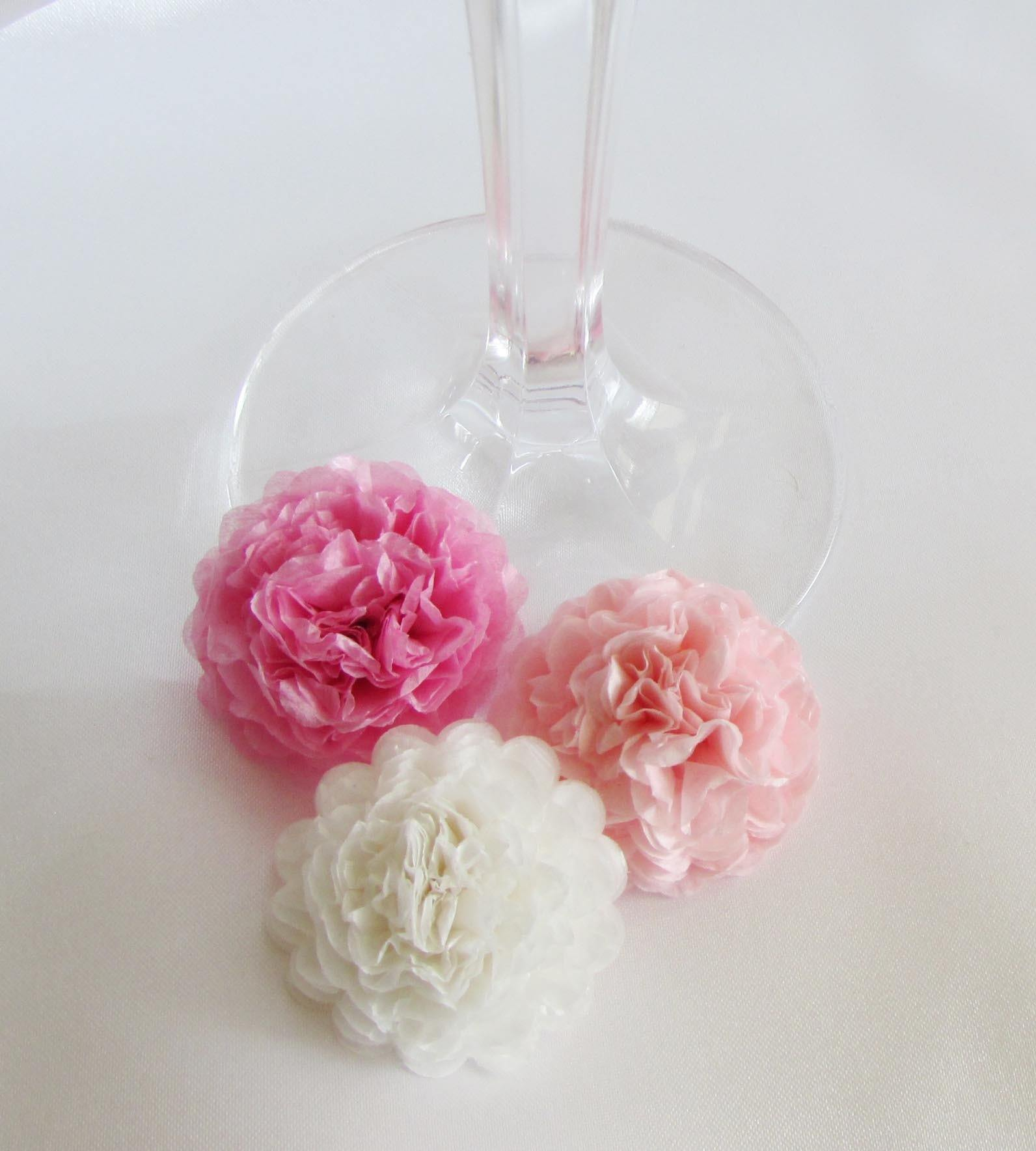 Baby pink button mums tissue paper flowers bickiboo party supplies pink button mums tissue paper flowers mightylinksfo