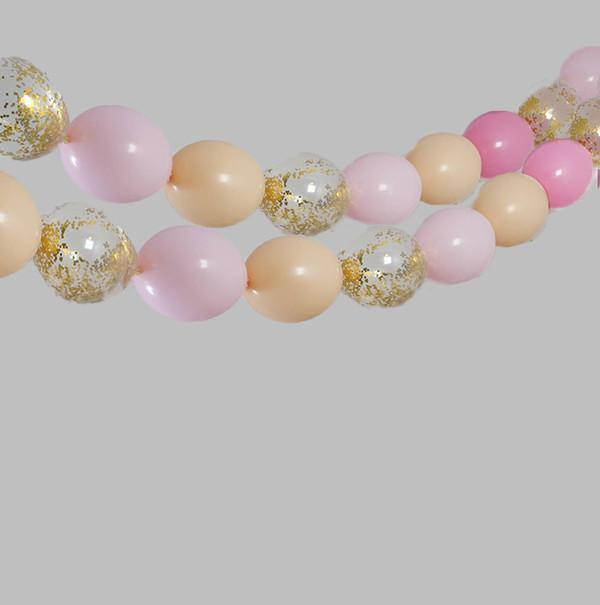 Balloon Garland - Peach & Pinks