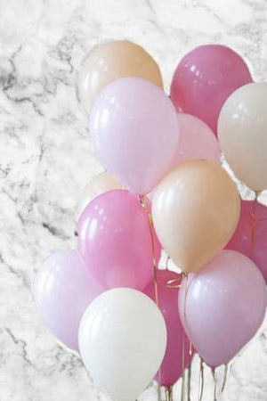 Peach Blossom Party Balloons Bouquet