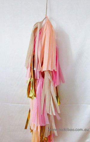 Balloon Tassel Garland - Peach Melba - Bickiboo Designs