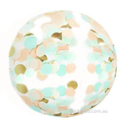 Jumbo Confetti Balloon Mint & Peach - 90cm