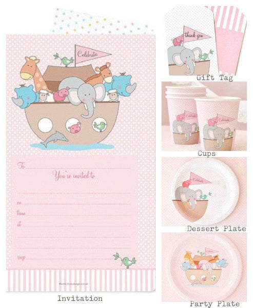 Noahs Ark Pink Party Pack