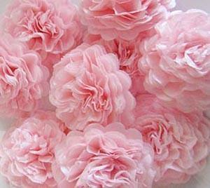 Baby Pink Button Mums Tissue Paper Flowers Bickiboo