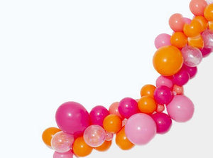 Balloon Garland Kit- Pink & Orange