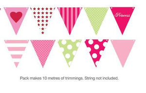 Pink Style Party Buntings - Bickiboo Party Supplies