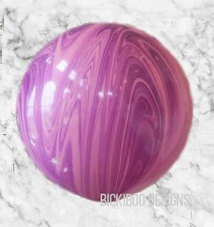 Giant Pink Violet Marble 76cm Balloon -UN-INFlATED