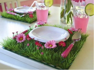 Yellow Daisy Grass Table Mats - Bickiboo Designs