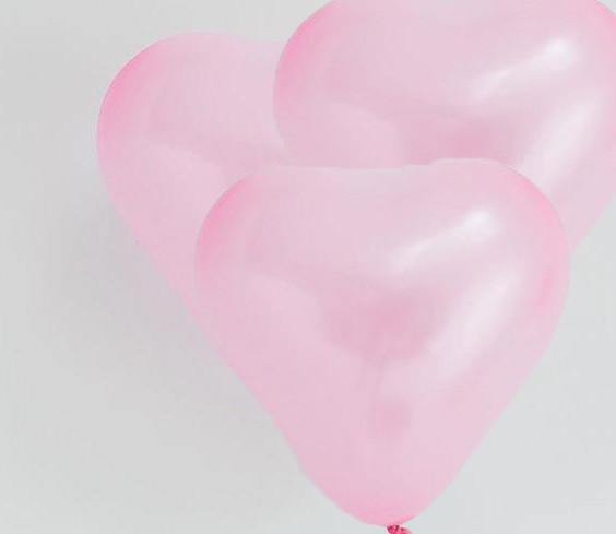 Pink Mini Heart Balloons - 15cm (4 pack)