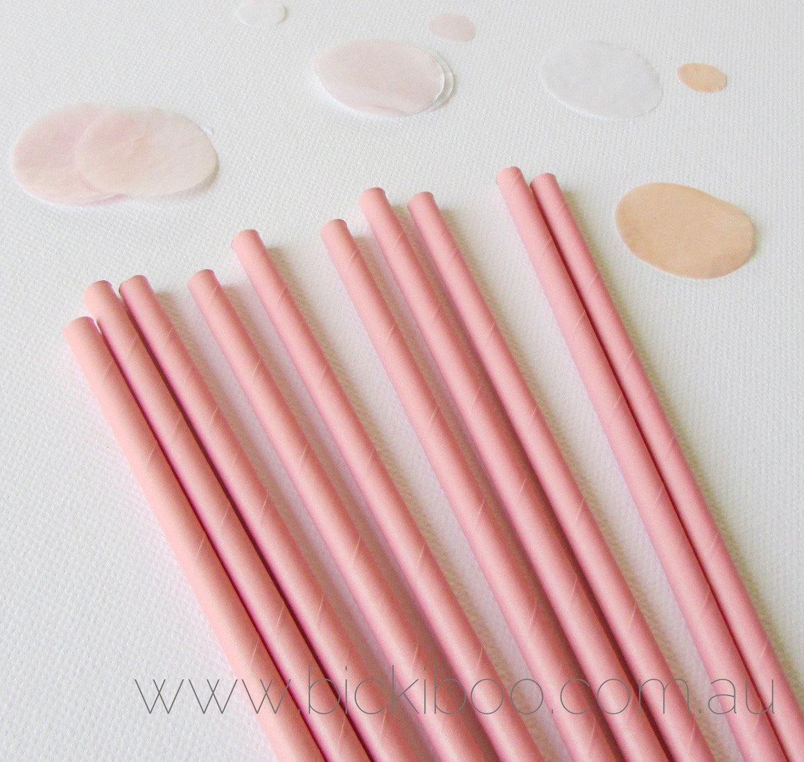 Pink Paper Straws (25 pack) - Bickiboo Party Supplies