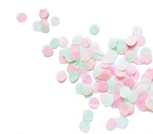 Hand-Cut Confetti - Pinks & Mint - Bickiboo Designs