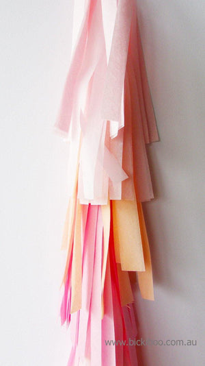 Balloon Tassel Garland - Pinks & Peach - Bickiboo Party Supplies