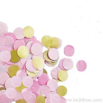 Hand-Cut Confetti - Pinks & Gold