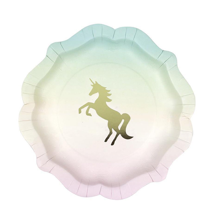 We Heart Unicorn Pastel Paper Plates -12pk - Bickiboo Designs