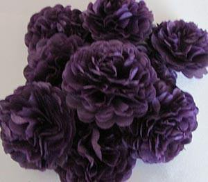 Plum Purple Button Mums Tissue Paper Flowers