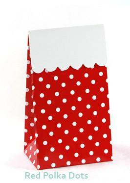 Sambellina Party Treat Bags - Polka Dot - Red - Bickiboo Party Supplies