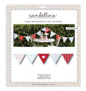 Sambellina Classic Boy Party Bunting - Bickiboo Party Supplies