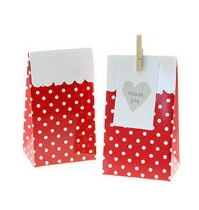 Sambellina Party Treat Bags - Polka Dot - Red - Bickiboo Designs