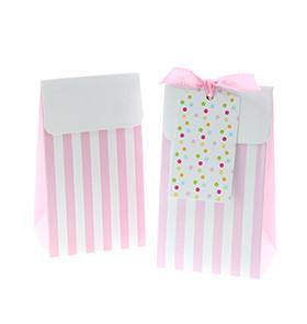 Sambellina Party Bags - Pink Stripe - Bickiboo Party Supplies