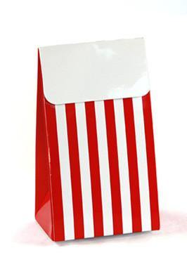 Sambellina Party Bags - Red Striped - Bickiboo Designs