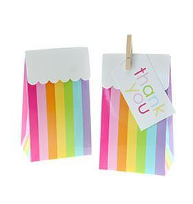 Sambellina Rainbow Stripe Party Bag - Bickiboo Party Supplies