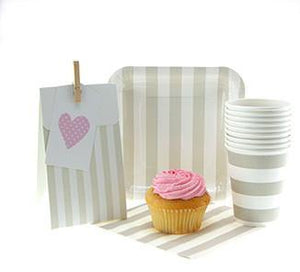 Sambellina Champagne Stripe Party Bag - Bickiboo Designs