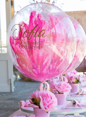 Personalised handpainted Balloon - Bickiboo Designs