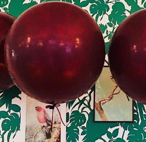 Jumbo Balloon - Burgundy - Bickiboo Designs