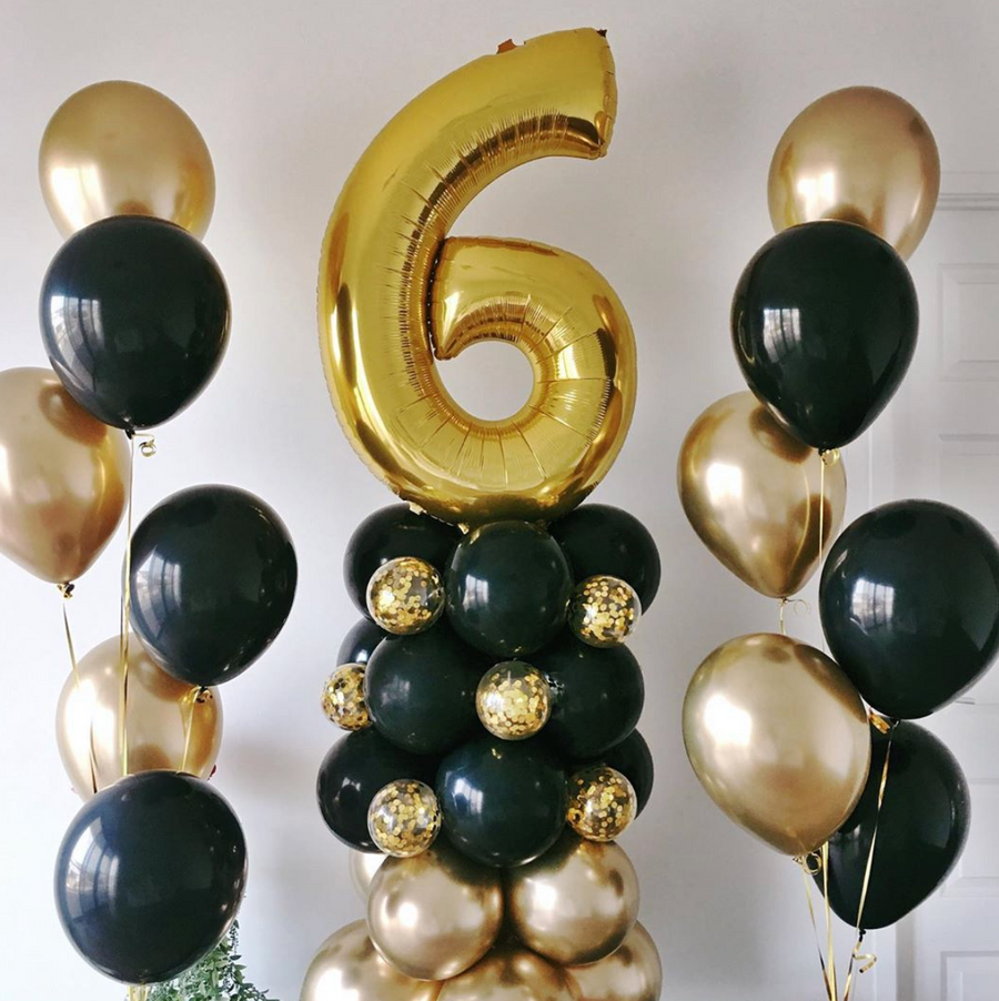 Balloon  Stand With an Age Number - Bickiboo Designs